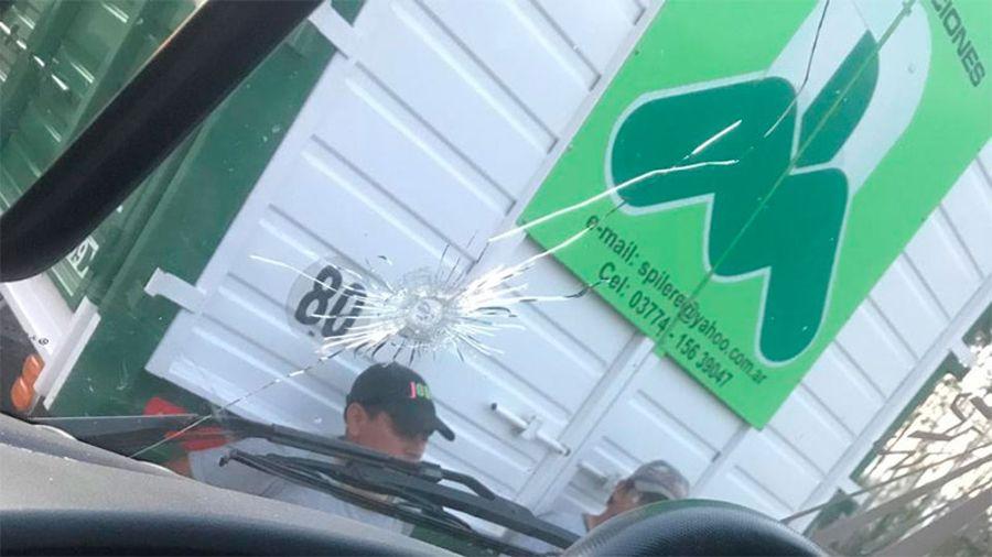 Camioneros baleados