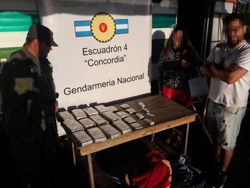 Gendarmeria en ruta 14 y 18