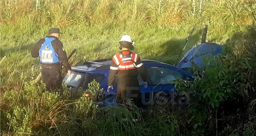 Accidente en ruta 2 auto