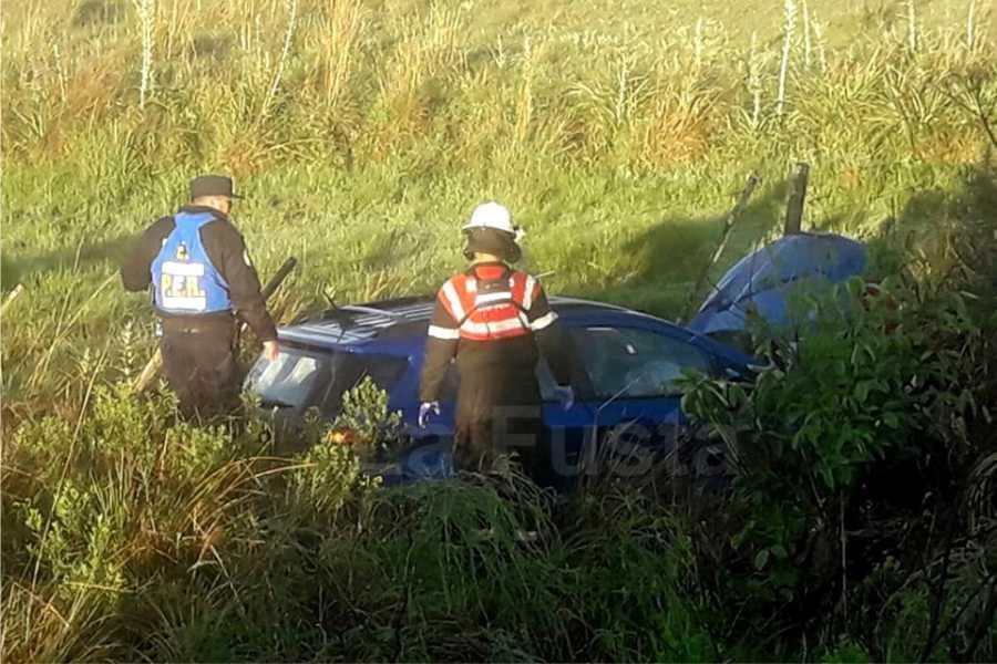 Accidente en ruta 2 auto