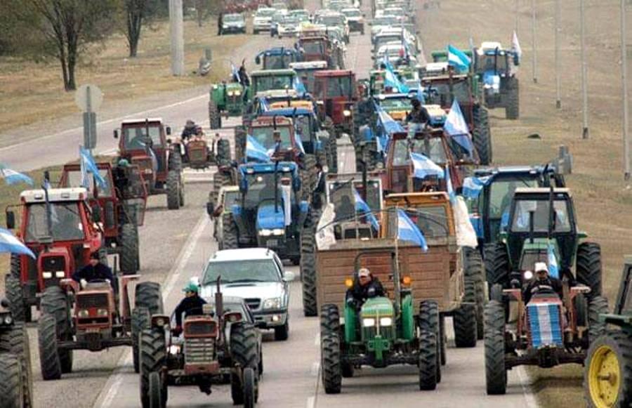 Tractores movilizados