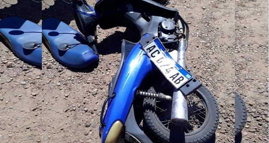 Choque de una moto