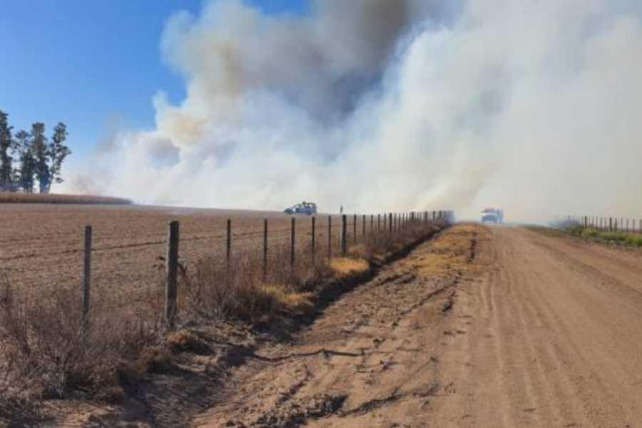 Incendio campo Cra